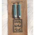 Bone and Felt Earrings - Co..