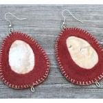 Shell and Felt Earrings - C..
