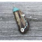 Driftwood Pendant, Felt and..