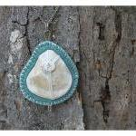 Shell Pendant, Felt and Bon..